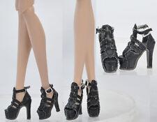 Doll Black Shoes for Fashion Royalty FR2 Poppy Parker,DG,Momoko 26*8 MM 17FR1