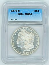 1879-S ICG MS-64 $1 MORGAN DOLLAR PL OBVERSE