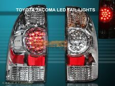 2005-08 TACOMA CHROME LED TAIL LIGHTS REAR BRAKE LAMPS