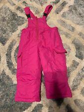 Toddler girls size 2T pink Ski snow bib winter overall snow pants snowboard