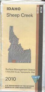 USGS BLM edition Topographic Map Idaho SHEEP CREEK 2010 surface -improper fold-