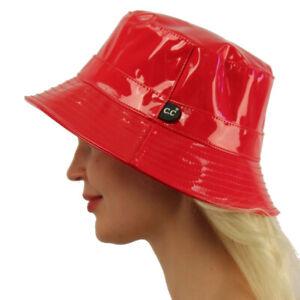 C.C Rain Waterproof Bucket Boonie Bush Fisherman Hiking Wide Brim Cap Hat Red