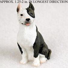 Pit Bull Mini Resin Hand Painted Dog Figurine Brindle