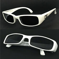 Women DG Rectangular Sunglasses UV Protect - White  Frame Smoke Lens DG01