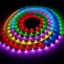 5M MULTICOLOUR RGB LED WATERPROOF STRIP LIGHT SET POWER ADAPTER IR REMOTE