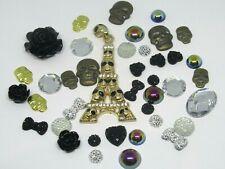 Skull Decoden Mix Set FlatBack Resin Cabochon X40 Kawaii Embellishment Bow
