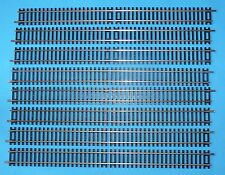 8x NEW HORNBY R601 DOUBLE STRAIGHT TRACK NICKEL SILVER FREE POST R 601
