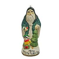 Santas From Around World Porcelain Figurine 1910 Yugoslavia Christmas Ornament