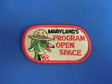 Vintage Maryland's Program Open Space Woody Duck Embroidered Iron On Patch
