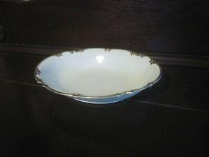 "VtG Hutschenreuther Revere 12"" Oval Platter Serving Sylvia White Platinum Trim"