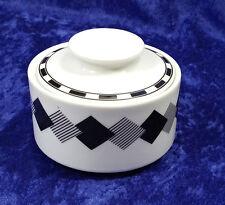 Mikasa Studio Nova Flash YA079 Sugar Bowl With Lid Black & White Geometric