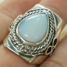 CLASSIC MOONSTONE GEMSTONE SILVER RING JEWELRY SIZE 10.5 H249