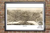 Vintage St. Paul, MN Map 1906 - Historic Minnesota Art Old Victorian Industrial