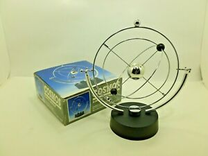 Vintage Cosmos Kinetic Mobile Desk Toy Sculpture Perpetual Motion Electronic