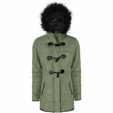 Polyester Military Coats & Jackets Hood for Women