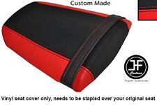 Rojo y Negro personalizado de vinilo cabe Honda CBR 600 RR 07-12 Trasero Cubierta de asiento solamente