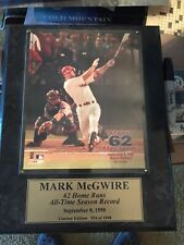 Mark McGwire 62nd HR Plaque and Picture