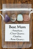 Best Mom Crystal Gift Set Rose Clear Quartz Amethyst Opalite Family Mother