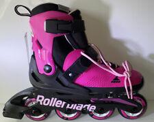 Rollerblade Usa Microblade Girls Adjustable Fitness Inline Skate, 2-5 , Pink