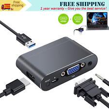 USB  to HDMI VGA HDMI Adapter HD Converter Dual Display Multiports w/h Bluetooth