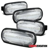 For 2003-2009 Dodge Ram Rear Clear LED Side Marker Lights Turn Signal Lamps 4PC
