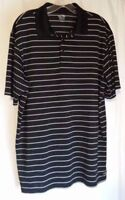 Champion Men's Polo Size Large Black And White Striped Golf Shirt