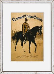Photo: Kolonial-Krieger-Spende. Von Lettow-Vorbeck, World War I, WWI, 1918, Lett