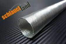Alu Hitzeschutzrohr 0,5m x ID 40mm *** Alurohr flexibel Aluschlauch Aluminium