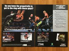 WWF Royal Rumble Sega Dreamcast 2000 Vintage Poster Ad Art SNES Official WWE