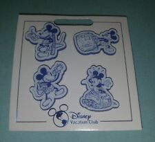 Disney Vacation Club DVC Mini-Pin 2018 Mickey Mouse Booster Set of 4 New On Card