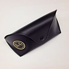 NEW Ray Ban Black Sunglasses Case Snap Closure Belt Loop with Cleaning Cloth
