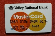 Valley Nation Bank MasterCard credit card exp 1983♡free ship♡cc1172♡