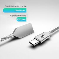 2.4A Zinc Alloy Micro USB Type C Fast Charging Charger Data Sync Cable Cord 3ft