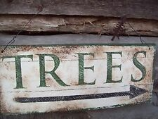 *WOOD*TREES*SIGN*COUNTRY~PRIMITIVE*AVERTISING SIGN*TREE FARM*NEW*RUSTIC DECOR*