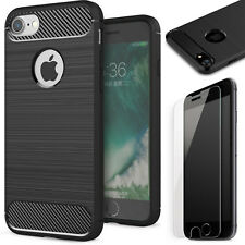 Handy hülle Apple iPhone 5 5s se TPU Carbon Fiber OPTIK Brushed Schutz Case