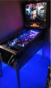 Sega TWISTER Pinball cabinet Light mod BLUE