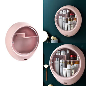 Wall Mount Makeup Cosmetic Storage Box Organizer NO DRILLING for Bathroom