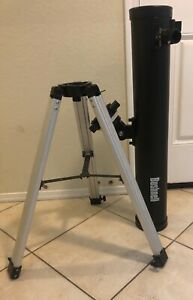 Bushnell 78-9945 114mm/900mm Refractor Telescope. For Parts Or Repair. Read.
