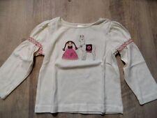 GYMBOREE schönes Langarmshirt creme Mädchen mit Lama Gr. 2 J/92 TOP ST817