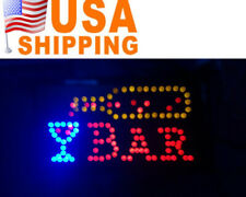 Motion Led Restaurant Cafe Bar Club Sign+On/Off Switch Open Light Neon Party Ce