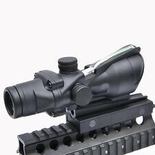 ACOG Style 4x32 Optics Sight Green Illuminated Fiber Optical Scope Hunting