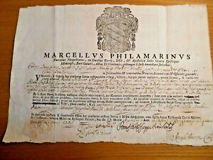 Mileto (Calabria) - Bolla Del Vescovo Marcello Filomarino 1749