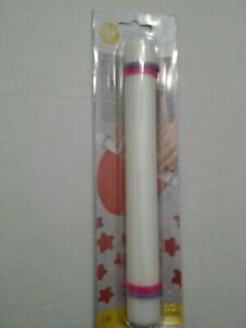 """Wilton 9"""" inch Fondant Gum Paste Roller Rolling Pin With Guide Rings Sugarcraft"""