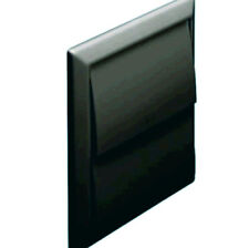 """100mm 4"""" Black gravity outlet 2 flap style vent for tumble dryer/ extractor fan"""