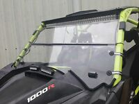 "A&S CanAM Maverick Max1000r 3/16 "" POLYCARBONATE FOLD DOWN Windshield 2013-2018"