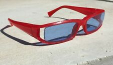 Alain Mikli France A0350-18 Red Acetate Sunglasses - Excellent Condition