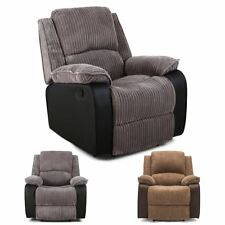 POSTANA JUMBO CORD FABRIC RECLINER ARMCHAIR SOFA LOUNGE HOME RECLINING CHAIR