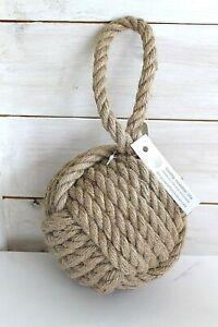 Large Coastal Natural Hessian Rope Ball Nautical Door Stop