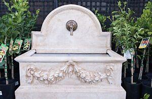 GRC Garden Patio Water Feature Rialto Trough Rectangle Tap Fountain Sandstone