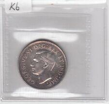 K6 CANADA 50c - 50 CENTS COIN 1947 CR7 BU ICCS $350.00 CHARLTON